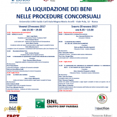 Convegno sulla liquidazione dei beni nelle procedure concorsuali